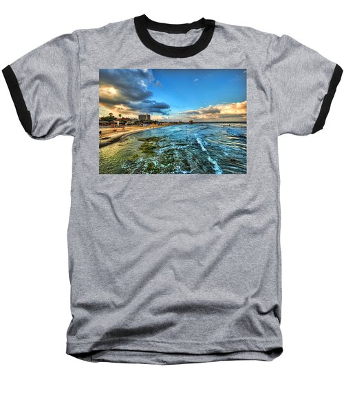 Baseball T-Shirt featuring the photograph a good morning from Hilton's beach by Ron Shoshani
