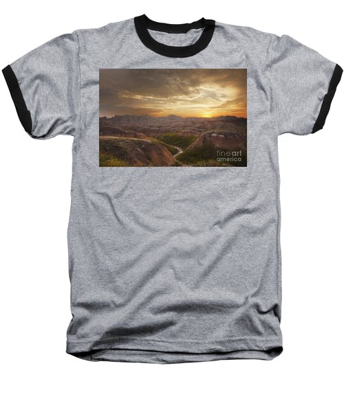 A Good Sunrise In The Badlands Baseball T-Shirt