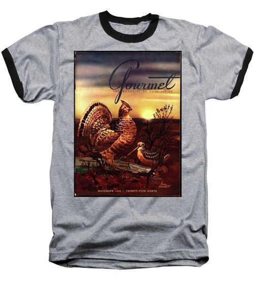 A Gourmet Cover Of A Turkey Baseball T-Shirt