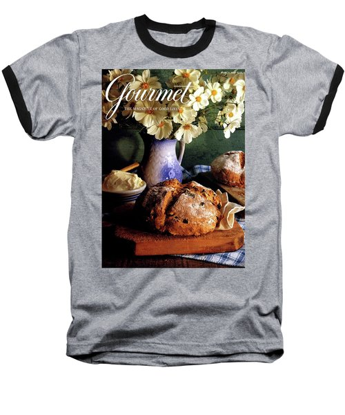 A Gourmet Cover Of Bread And Flowers Baseball T-Shirt