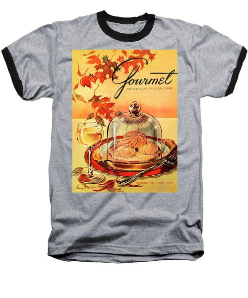 A Gourmet Cover Of Mushrooms On Toast Baseball T-Shirt