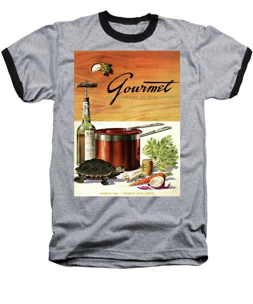 A Gourmet Cover Of Turtle Soup Ingredients Baseball T-Shirt