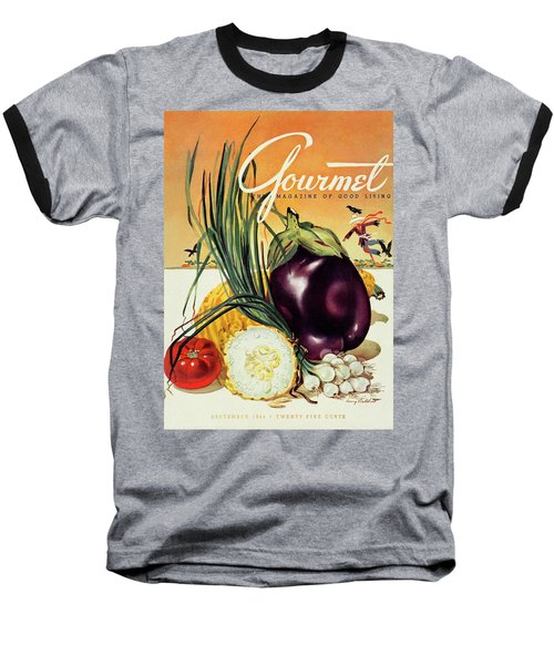 A Gourmet Cover Of Vegetables Baseball T-Shirt