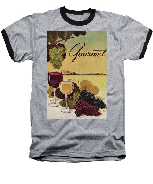 A Gourmet Cover Of Wine Baseball T-Shirt