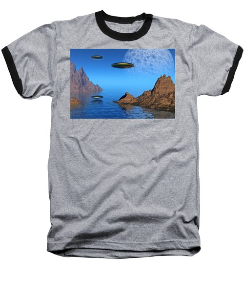 Baseball T-Shirt featuring the digital art A Great Day For Flying by Lyle Hatch