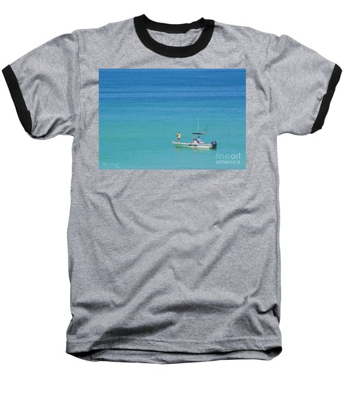 Baseball T-Shirt featuring the photograph A Great Way To Spend A Day by Mariarosa Rockefeller