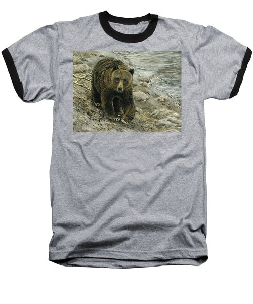 A Grey And Grizzly Day Baseball T-Shirt