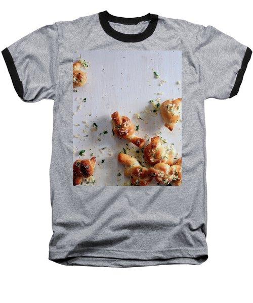 A Group Of Garlic Knots Baseball T-Shirt