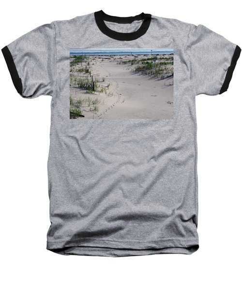 A Gull's Walk To The Ocean Baseball T-Shirt