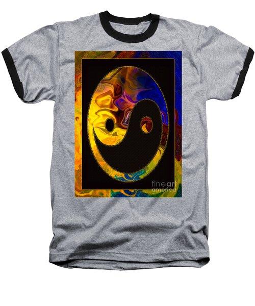 A Happy Balance Of Energies Abstract Healing Art Baseball T-Shirt