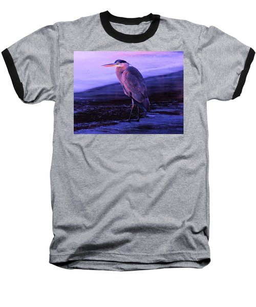 A Heron On The Moyie River Baseball T-Shirt