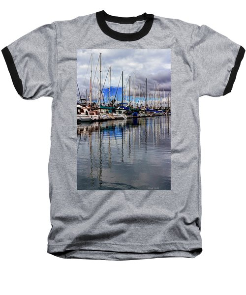 A Hint Of Blue Baseball T-Shirt by Heidi Smith