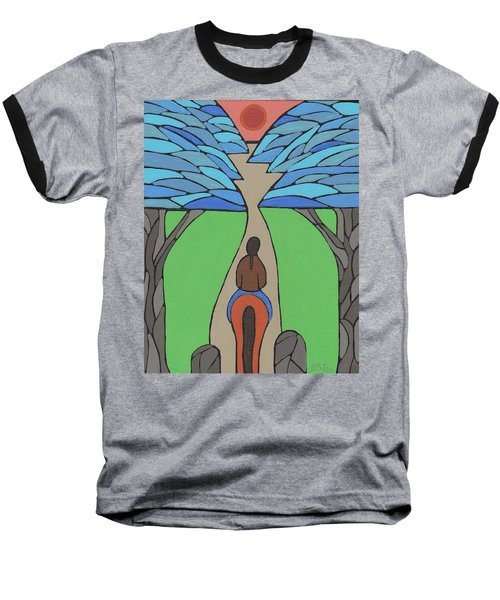 Baseball T-Shirt featuring the painting A Horse Of A Different Colour by Barbara St Jean