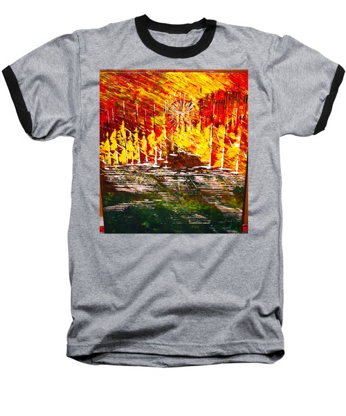 A Hot Summer Day.- Sold Baseball T-Shirt by George Riney