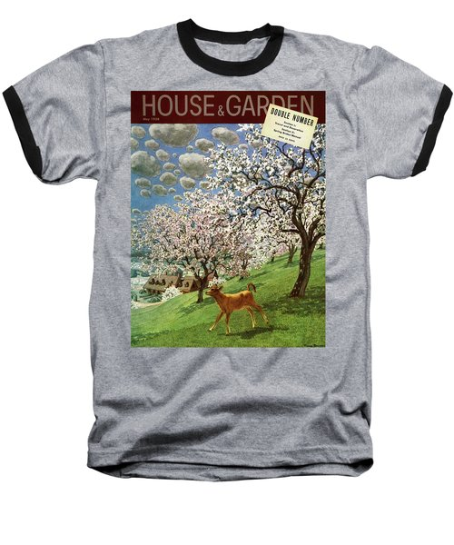 A House And Garden Cover Of A Calf Baseball T-Shirt