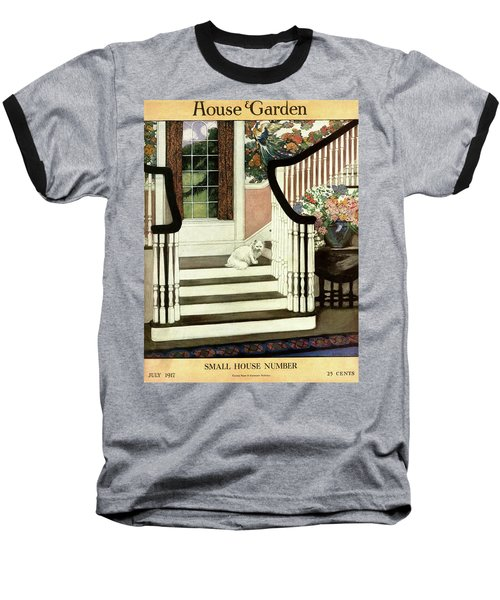 A House And Garden Cover Of A Cat On A Staircase Baseball T-Shirt