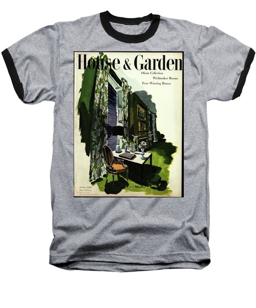 A House And Garden Cover Of A Living Room Baseball T-Shirt