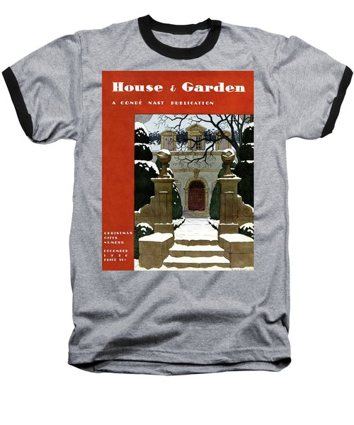 A House And Garden Cover Of A Mansion Baseball T-Shirt