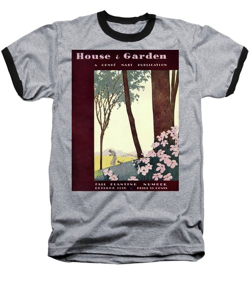 A House And Garden Cover Of A Rural Scene Baseball T-Shirt