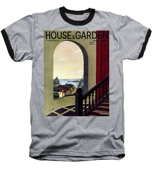A House And Garden Cover Of A Seaside Village Baseball T-Shirt