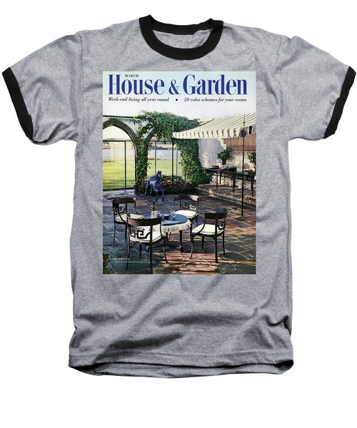 A House And Garden Cover Of A Terrace In East Baseball T-Shirt