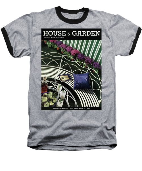 A House And Garden Cover Of A White Bench Baseball T-Shirt