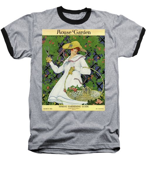 A House And Garden Cover Of A Woman Gardening Baseball T-Shirt