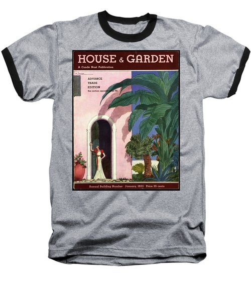 A House And Garden Cover Of A Woman In A Doorway Baseball T-Shirt