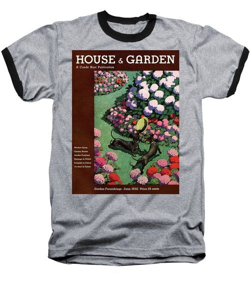 A House And Garden Cover Of Dachshunds With A Hat Baseball T-Shirt