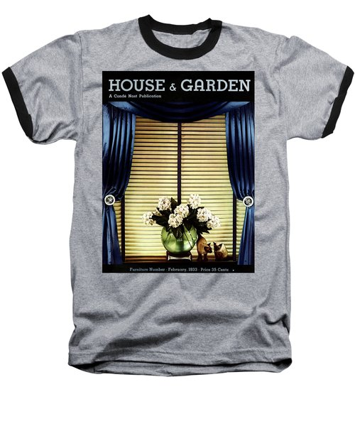 A House And Garden Cover Of Flowers By A Window Baseball T-Shirt