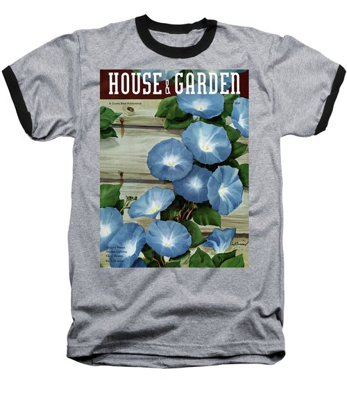 A House And Garden Cover Of Flowers Baseball T-Shirt