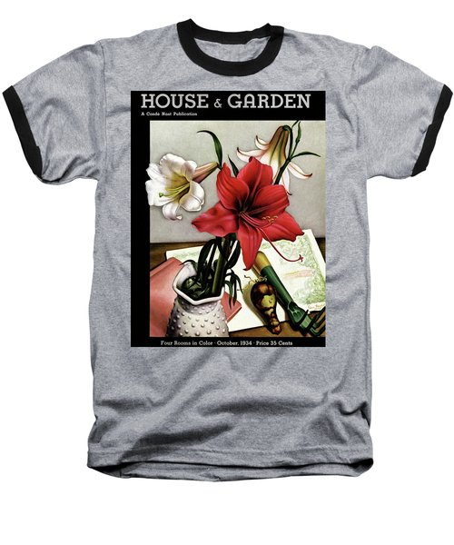 A House And Garden Cover Of Lilies Baseball T-Shirt