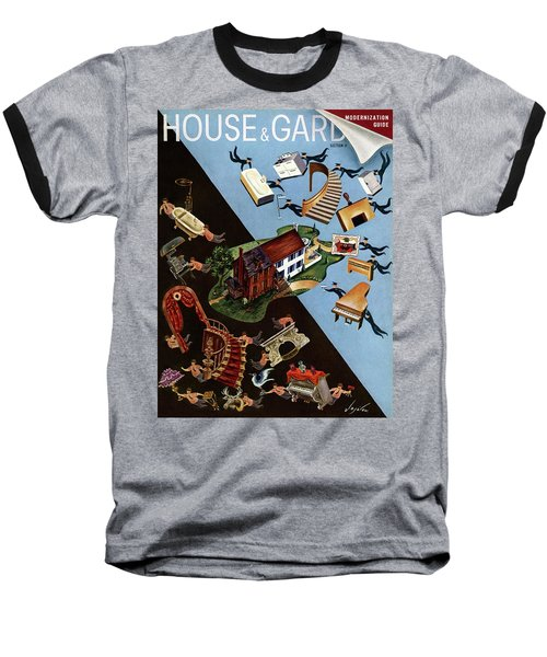 A House And Garden Cover Of People Moving House Baseball T-Shirt