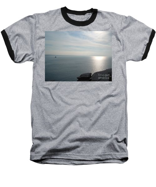 A King's View Baseball T-Shirt by Richard Brookes