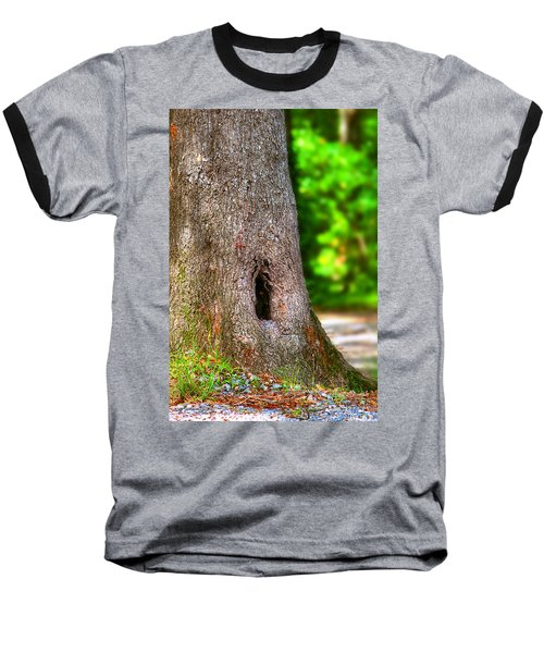Baseball T-Shirt featuring the photograph A Little Hiding Place by Ester  Rogers