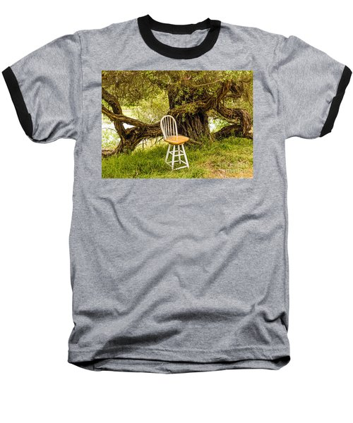 A Little Solitude Baseball T-Shirt by Kate Brown