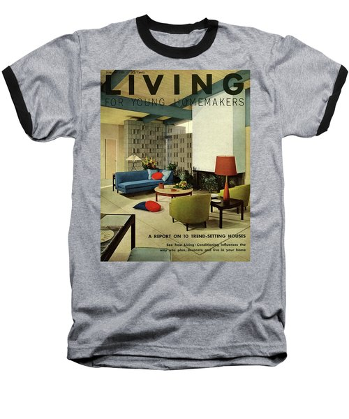 A Living Room With Carpeting By Callaway Baseball T-Shirt
