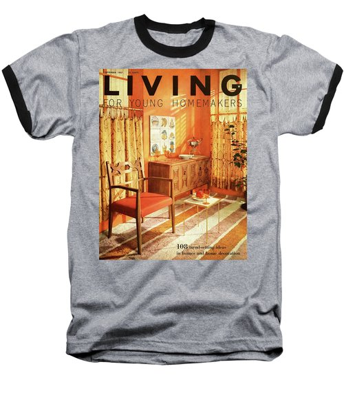 A Living Room With Furniture By Mt Airy Chair Baseball T-Shirt