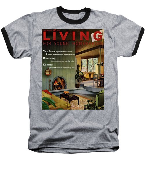 A Living Room With Sherwin-williams Wood-paneling Baseball T-Shirt