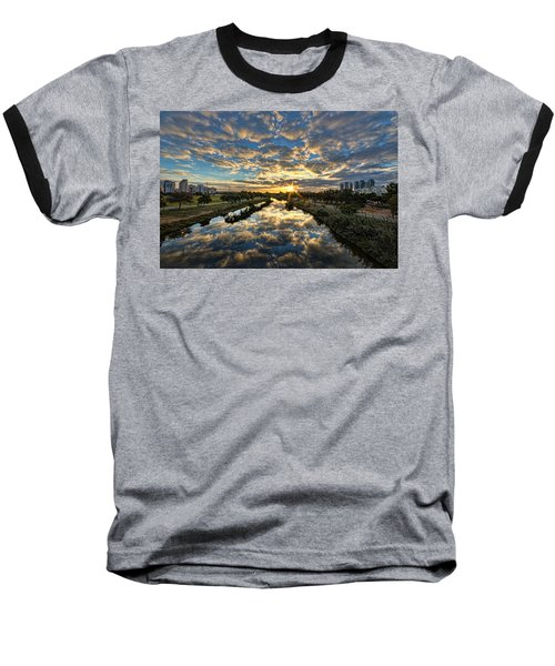 A Magical Marshmallow Sunrise  Baseball T-Shirt