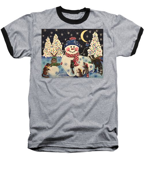 A Magical Night In The Snow Baseball T-Shirt