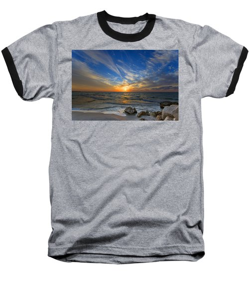 A Majestic Sunset At The Port Baseball T-Shirt