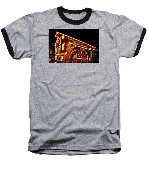 A Mill In Lights Baseball T-Shirt by DJ Florek
