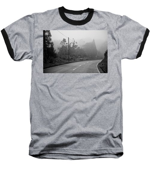 A Misty Country Road Baseball T-Shirt
