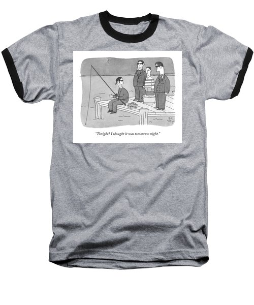 A Mobster Fishes Off A Dock Baseball T-Shirt