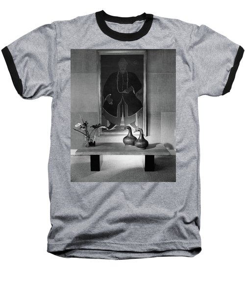 A Modern Table With An Oriental Painting Baseball T-Shirt