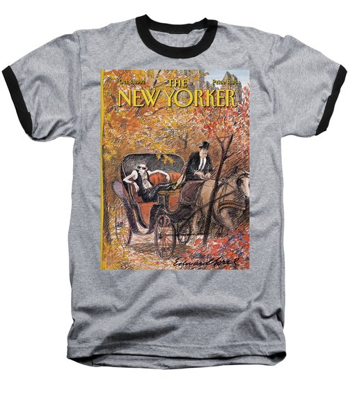 A Mohawked Punk Sitting In The Back Of A Horse Baseball T-Shirt