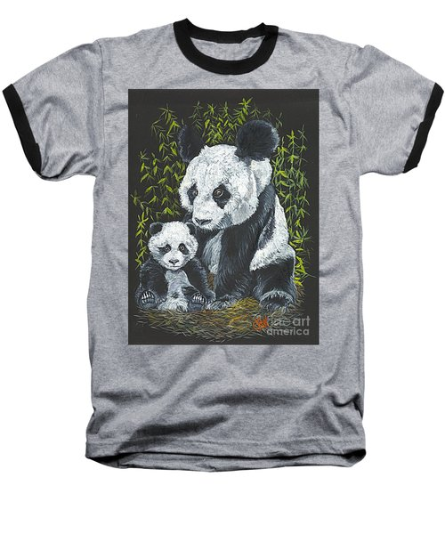 Baseball T-Shirt featuring the painting A Mothers Devotion by Carol Wisniewski