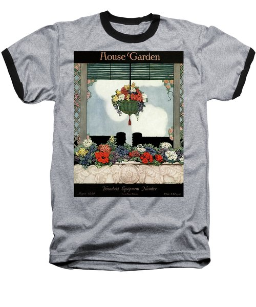 A Neo-classical Marble Window Sill Baseball T-Shirt