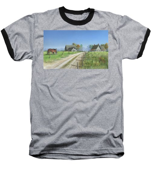 Baseball T-Shirt featuring the painting A New Beginning by Mike Brown